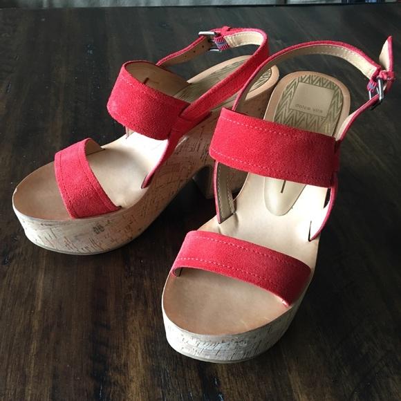 dcd569c2a3a Dolce Vita Shoes - Dolce Vita Randi red wooden cork wedge platforms